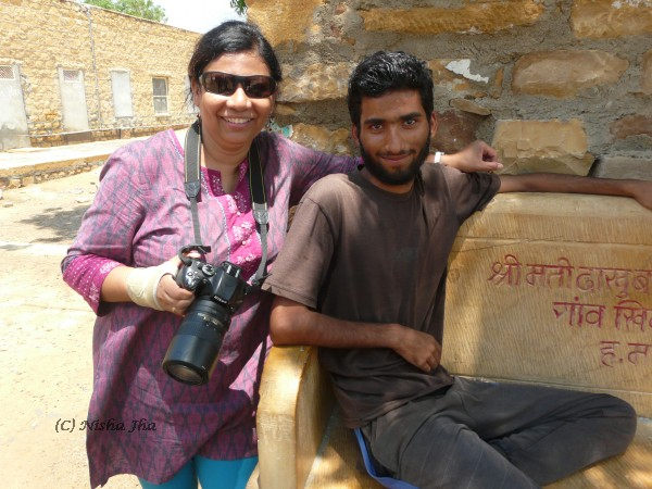meeting Twitter follower remote village jaisalmer jain temple sumer singh @lemonicks.com
