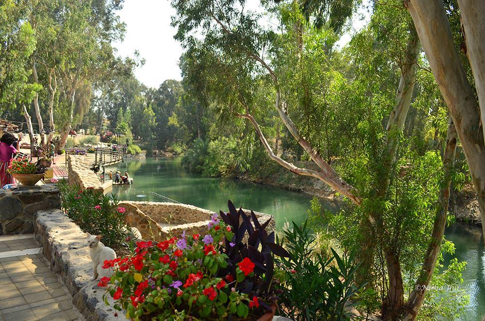 Yardenit Baptismal site where JEsus was baptized. Nehar ha Yarden