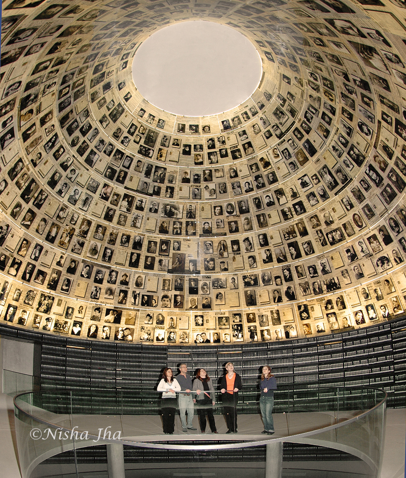 Hall of names at Yad Vashem or the holocaust museum 2 days in jerusalem