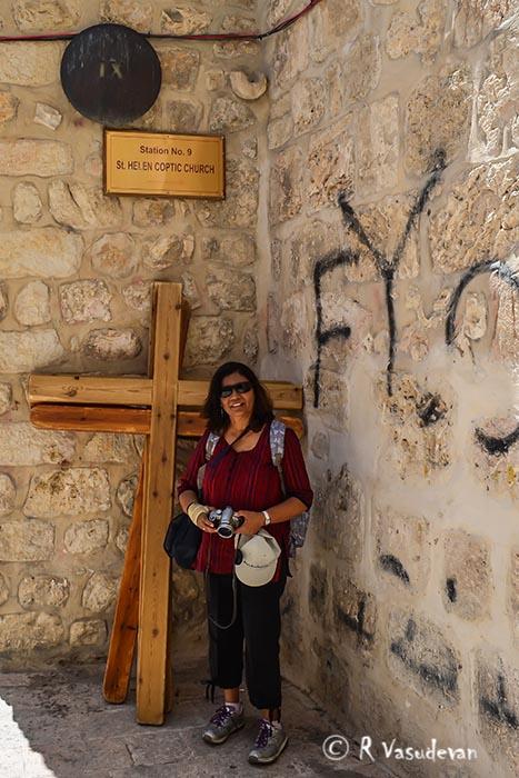 Station #9 , Via Dolorosa . Holy Sepulchre Church