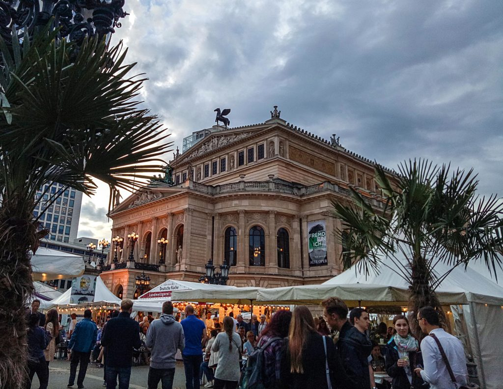 Apfelwein festival at Opera Square Frankfurt