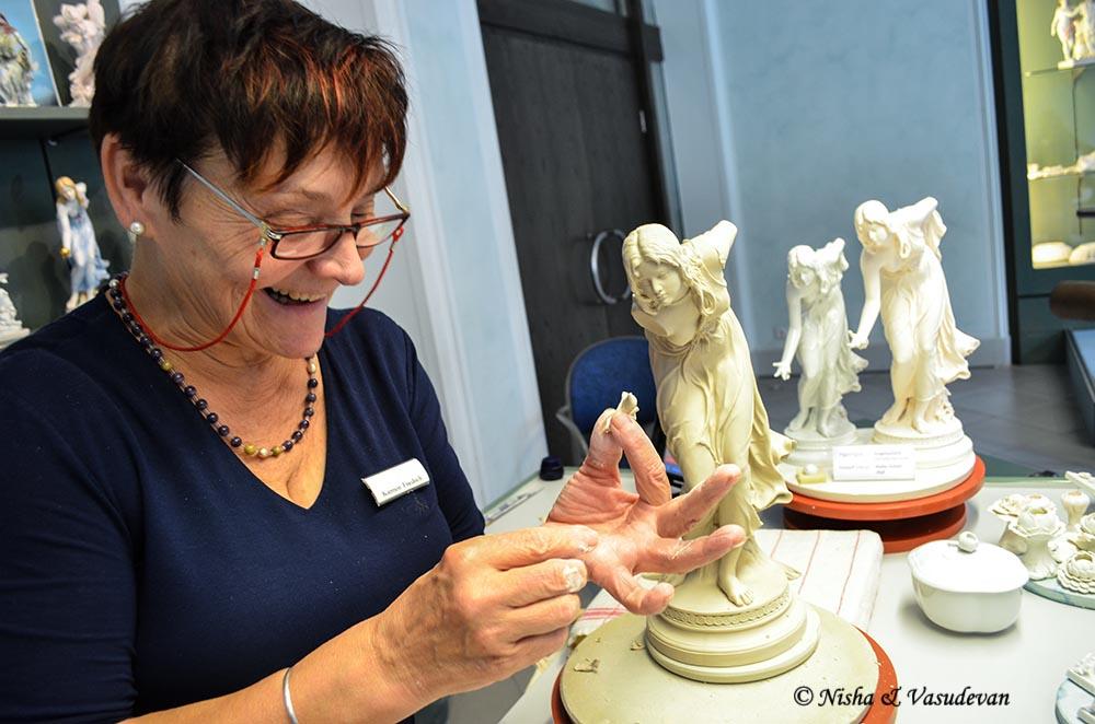 meissen porcelain museum white gold saxony
