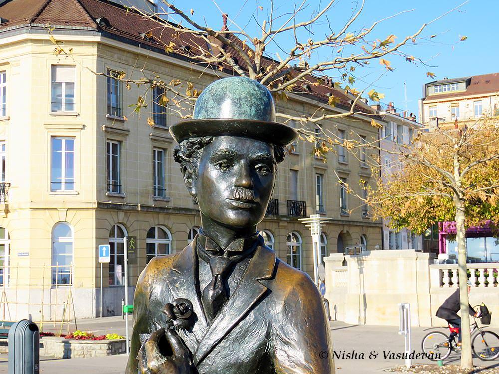 charlie chaplin bronze statue in vevey switzerland ©lemonicks.com