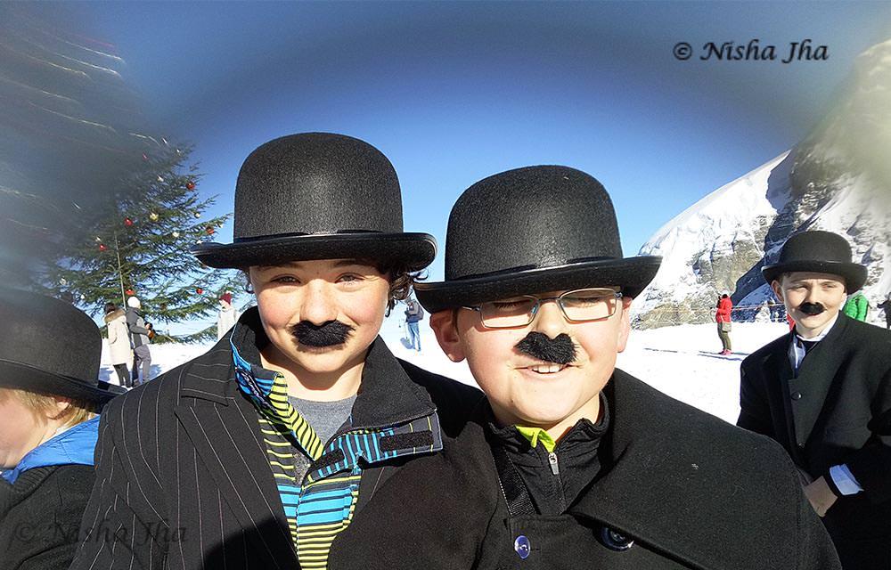 Kids as charlie chaplin jungfrau switzerland ©lemonicks.com