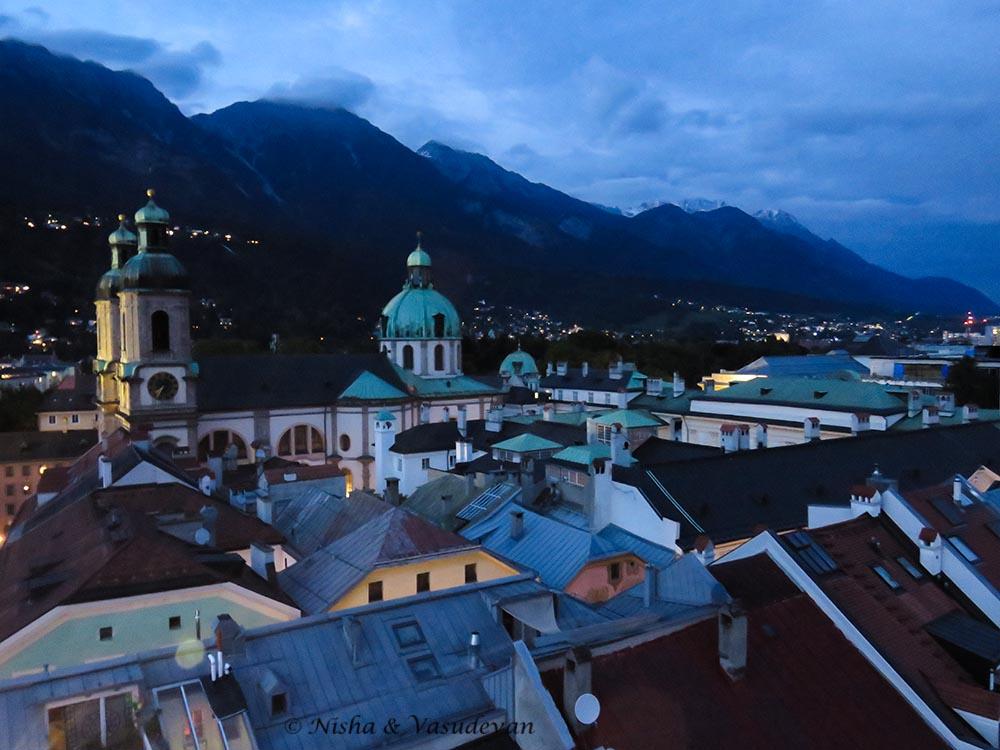 Innsbruck at night. @lemonicks.com Self guided walking tour of innsbruck