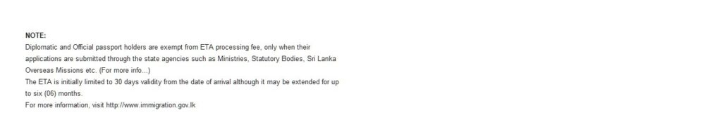 Sri Lanka ETA application process, eVisa application