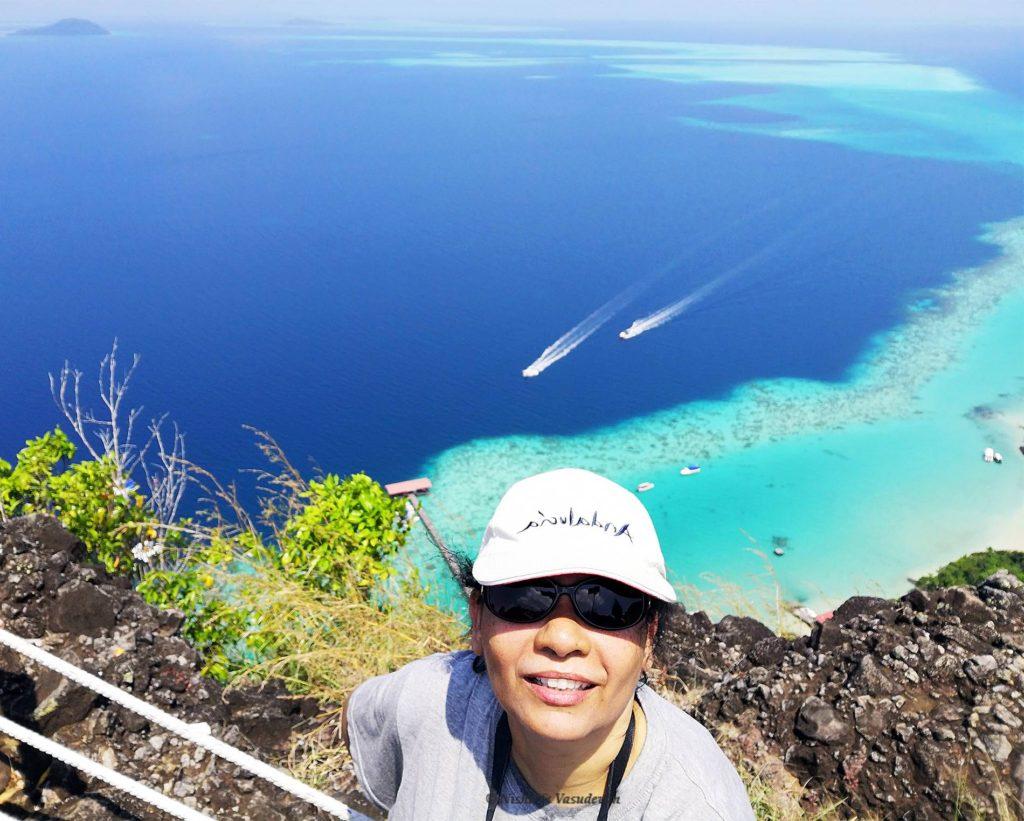 view after hiking in Bohey dulang sabah