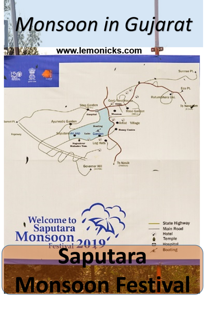 Saputara Monsoon Festival Map