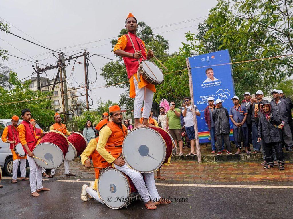 Saputara Monsoon Festival Parade drummers