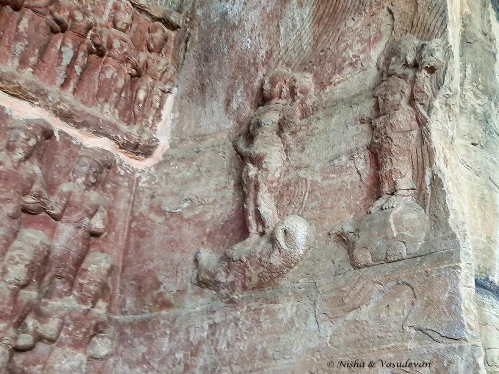 Udayagiri Caves Cave 5 Ganga and Yamuna