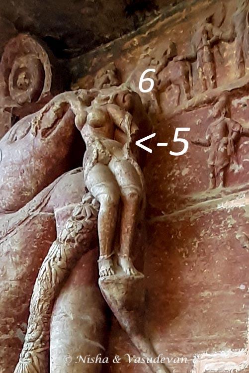 Udaigiri  Cave 5 Bhudevi and Shiva