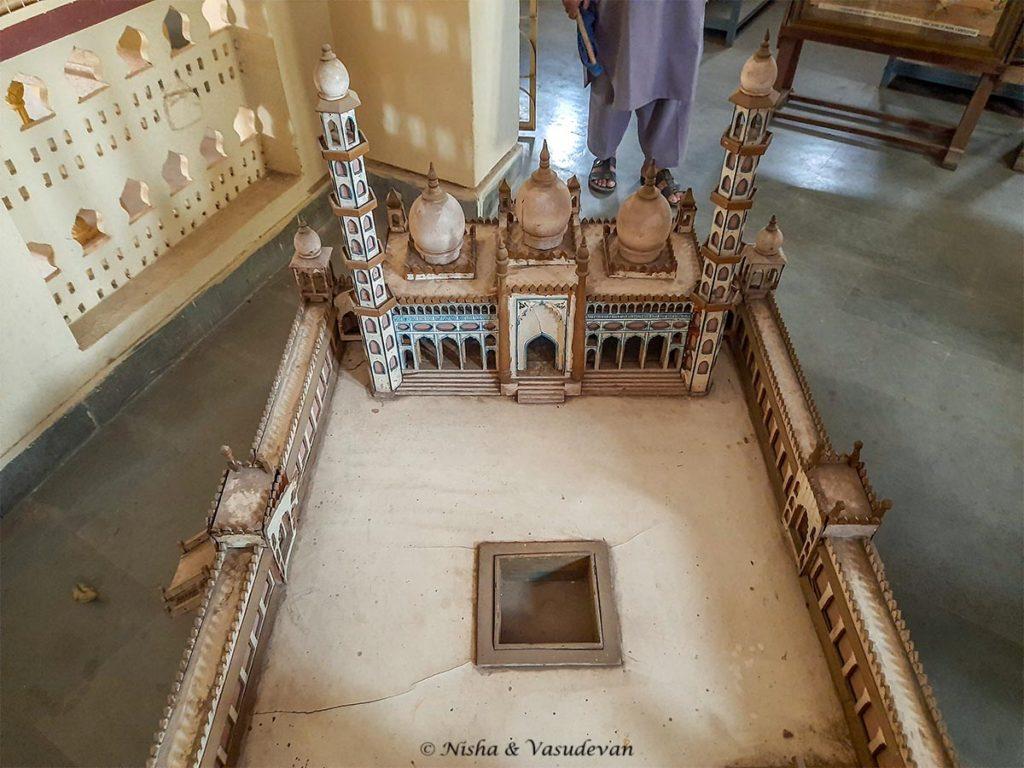3D model of tajul masajid the largest mosque in india