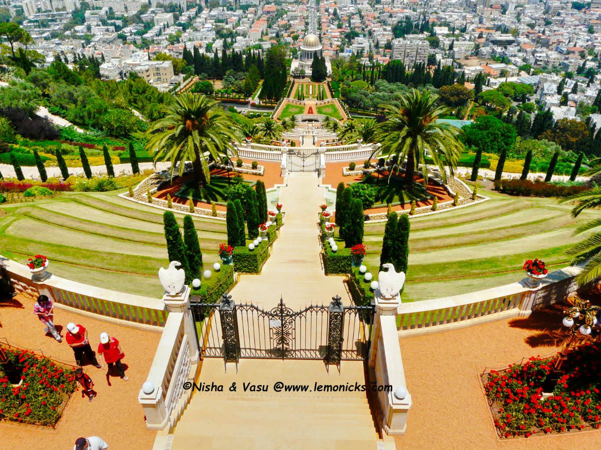 Bahá'í gardens Haifa @www.lemonicks.com
