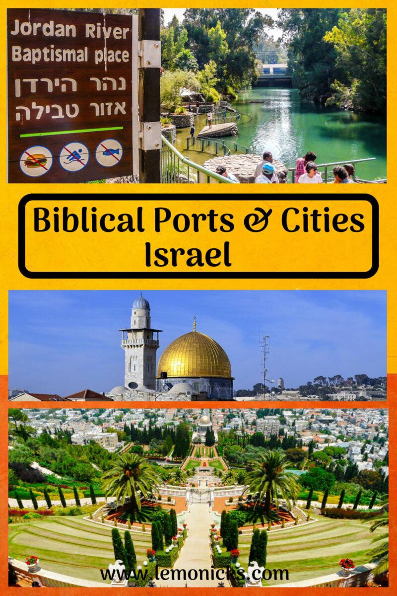 PIN Biblical Ports cities Israel @lemonicks.com